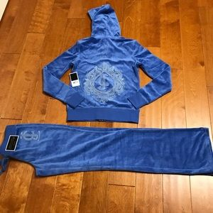 Juicy Couture studded logo velour hoodie & pant
